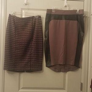 2 for $12 Knee length skirts